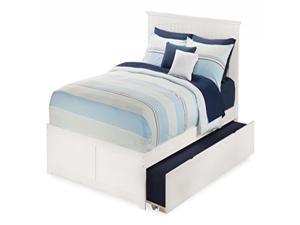 Nantucket Full Flat Panel Foot Board w/ 2 Urban Bed Drawers Espresso