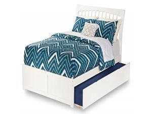 Orleans Full Flat Panel Foot Board with Urban Trundle Bed in Caramel Latte