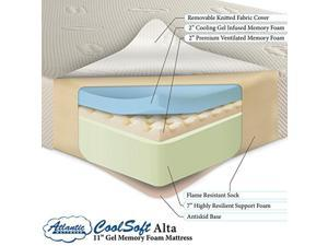 "CoolSoft Memory Foam Gel 11"" Mattress King"