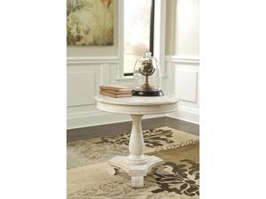 Round Accent Table White