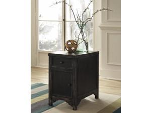 Chair Side End Table Black