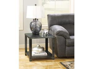 Square End Table Gray