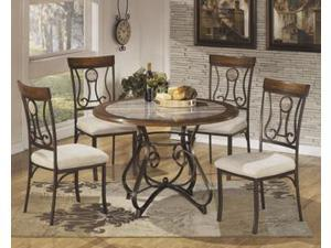Round Dining Room Table Base Brown