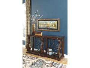 Sofa Table Rustic Brown