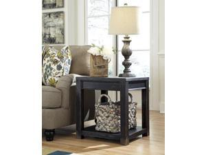 Square End Table Black