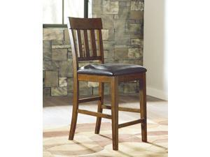 Upholstered Barstool (2/CN) Medium Brown