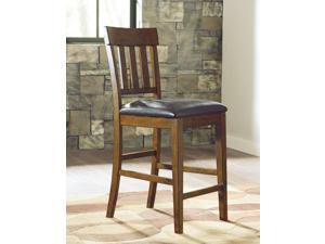 Upholstered Barstool (2/CN) Medium Brown