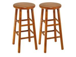 Set of 2, Beveled Seat, 24 Inches Stool, Assembled