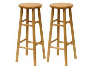 Set of 2, Beveled Seat, 30 Inches Stool, Assembled