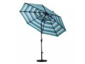 9' Aluminum Market Umbrella Push Tilt - M White/Sunbrella/Dolce Oasis