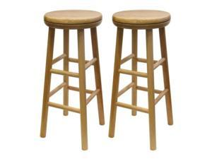 Set of 2, Swivel 24 Inches Stool, Assembled