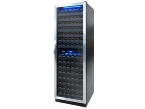 155-Bottle Dual Zone Wine Cooler with Black Racking