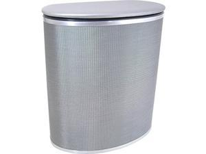 Pewter Style Bowed Front Hamper Pewter/Silver