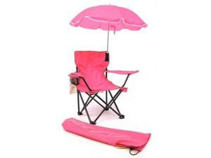 Beach Baby Kids Camp Chair with Carry Umbrella and matching tote bag Hot Pink
