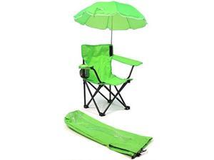 Beach Baby Kids Camp Chair with Carry Umbrella and matching tote bag Lime Green