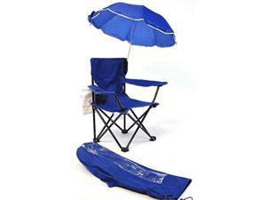 Beach Baby Kids Camp Chair with Carry Umbrella and matching tote bag Royal Blue