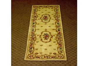 Ruby 8904 Ivory Fleur-De-Lis Aubusson size - 2 ft.3 Inches by 7 ft.6 Inches Runner