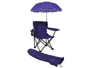 Beach Baby Kids Camp Chair with Carry Umbrella and matching tote bag Purple