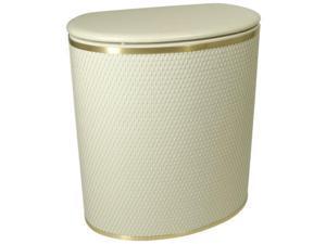 Capri Classic Bowed Front Hamper Cream/Gold