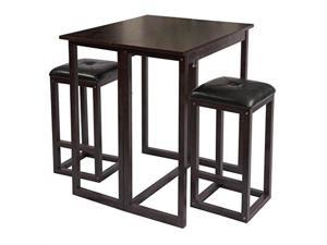 Bay Shore Collection Expandable Table and Stools -Espresso