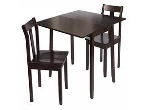 Bay Shore Collection Expandable Table and Chairs- Espresso