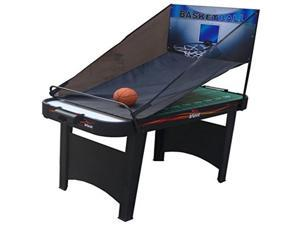 "Voit 48"" 14 in 1 Combo Table Game Air Hockey Football Basketball Darts"