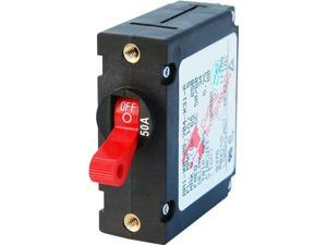 Blue Seas AC/DC Single Pole Magnetic Red Circuit Breakers 50 AMP AA1