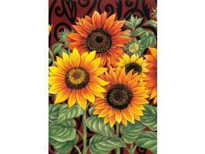 Toland Home Garden Sunflower Medley 28 x 40-Inch Decorative USA-Produced House Flag
