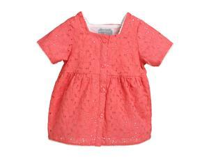 Betty Red Broidery Smock Top for 7 years Girls Red Color
