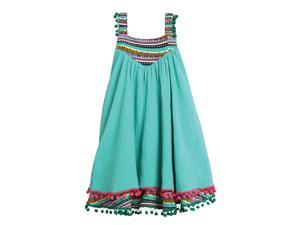 sme Mixed Stripe Border Circle Dress for 2-3 years Girls Green Color