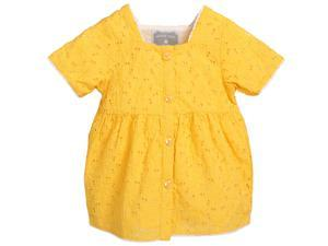 Betty Yellow Broderie Anglaise Top for 18-24 Months Girls Yellow Color