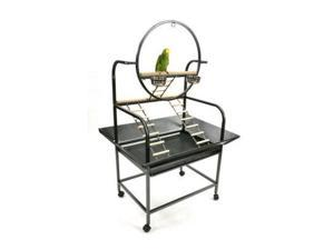 "The ""O"" Parrot Play Stand J6 Platinum"