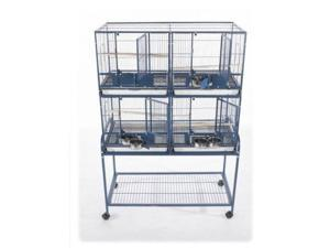 4 Unit Cage with Stand and Removable Divider 4020-2 Black
