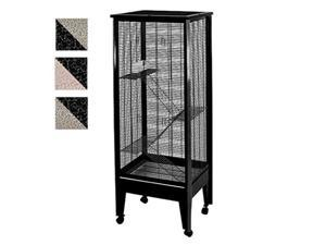 Medium - 4 Level Small Animal Cage on Casters SA2420H PL/BK