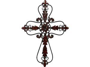 Mtl Wall Cross 37 Inches Height, 26 Inches Width