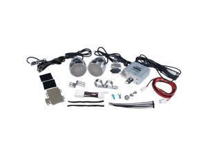 PYLE PRO PLMCA61 600-Watt Mounted Motorcycle/ATV/Snowmobile Amp & Weatherproof Dual-Handlebar Speakers
