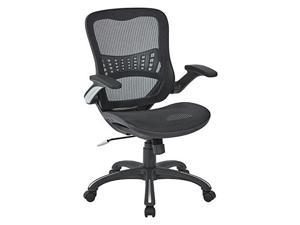 Mesh Seat and Back Manager's Chair in Black Mesh