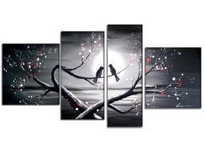 Love Birds- Romantic Art Oil Painting - 55 x 32 In
