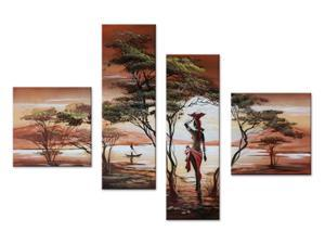 Large African Painting Woman 559 - 55 x 36in
