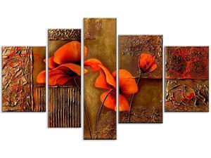 Brown Flower Painting Highly Textured