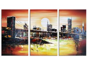 New York Bridge Art Painting 1131 - 48 x 32in