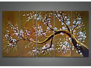 Modern Brown Tree Oil Painting 1021 - 60 x 32in