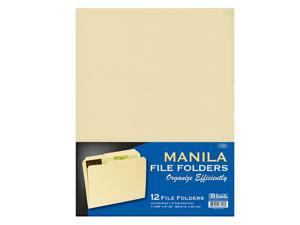 BAZIC 1/3 Cut Letter Size Manila File Folder (12/Pack)