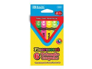 BAZIC 6 Fluorescent Color Triangle Crayon