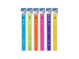 "BAZIC 12"" (30cm) Jeweltones Color Ruler"