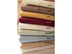 RT Twin Extra Long 450 Thread Count Solid Egyptian Sheet Sets