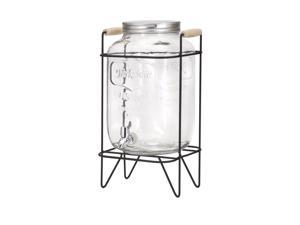 Nantucket Glass Jar Drink Dispenser with Stand