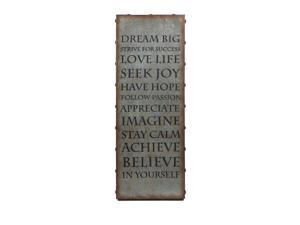 Galvanized Inspirational Wall Art