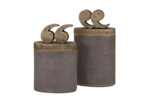 Beth Kushnick Quote Lidded Boxes - Set of 2