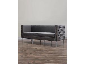 Bryn Grey Velvet Sofa